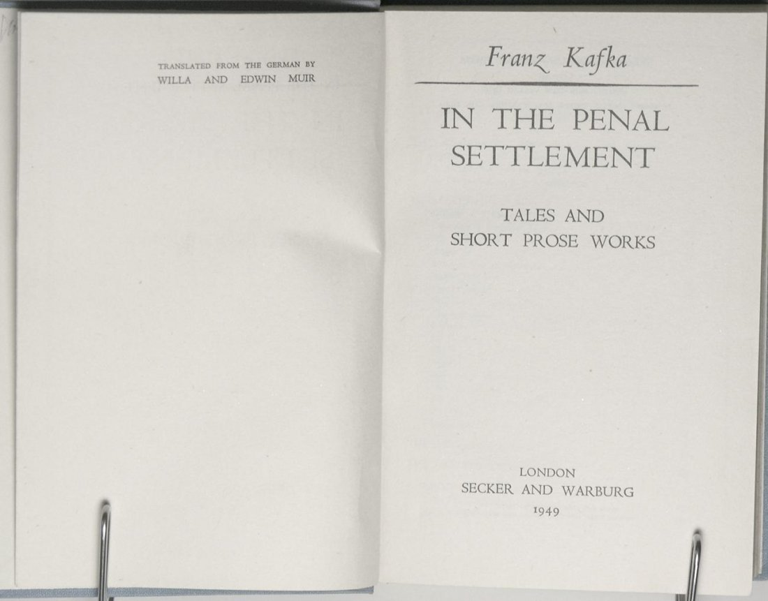 Franz Kafka: In the Penal Settlement - 3