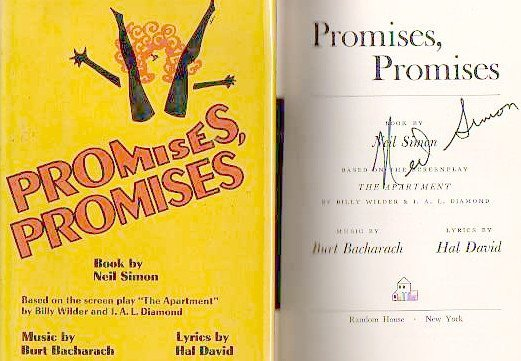 Neil Simon: Promises, Promises - Signed