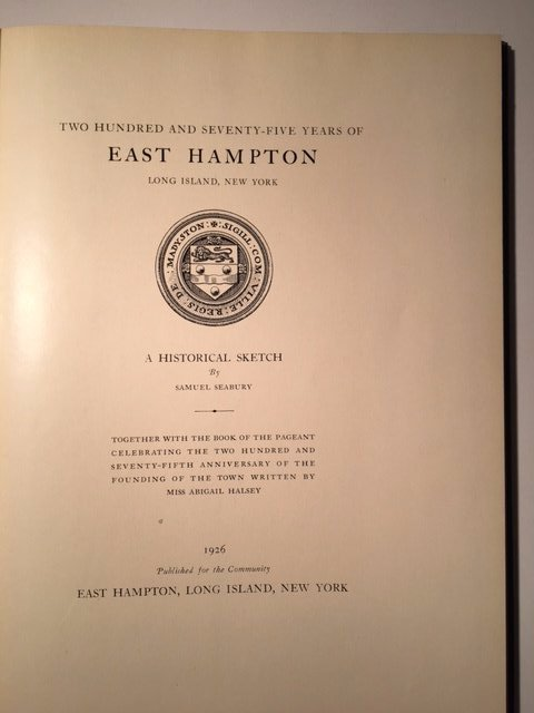 Samuel Seabury: 275 Years of East Hampton, New York - 3