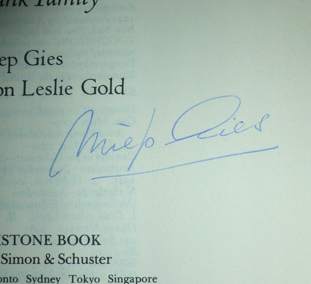 Miep Gies: Anne Frank Remembered - Signed - 3