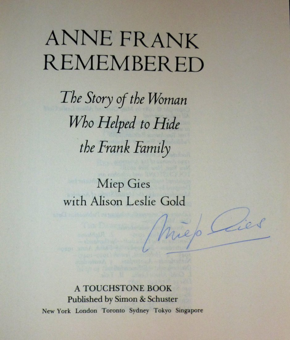 Miep Gies: Anne Frank Remembered - Signed - 4