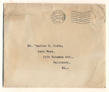 Vintage Letter with Autograph of Edwin C. Hill, 1933