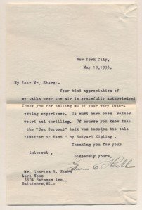 Vintage Letter with Autograph of Edwin C. Hill, 1933 - 3
