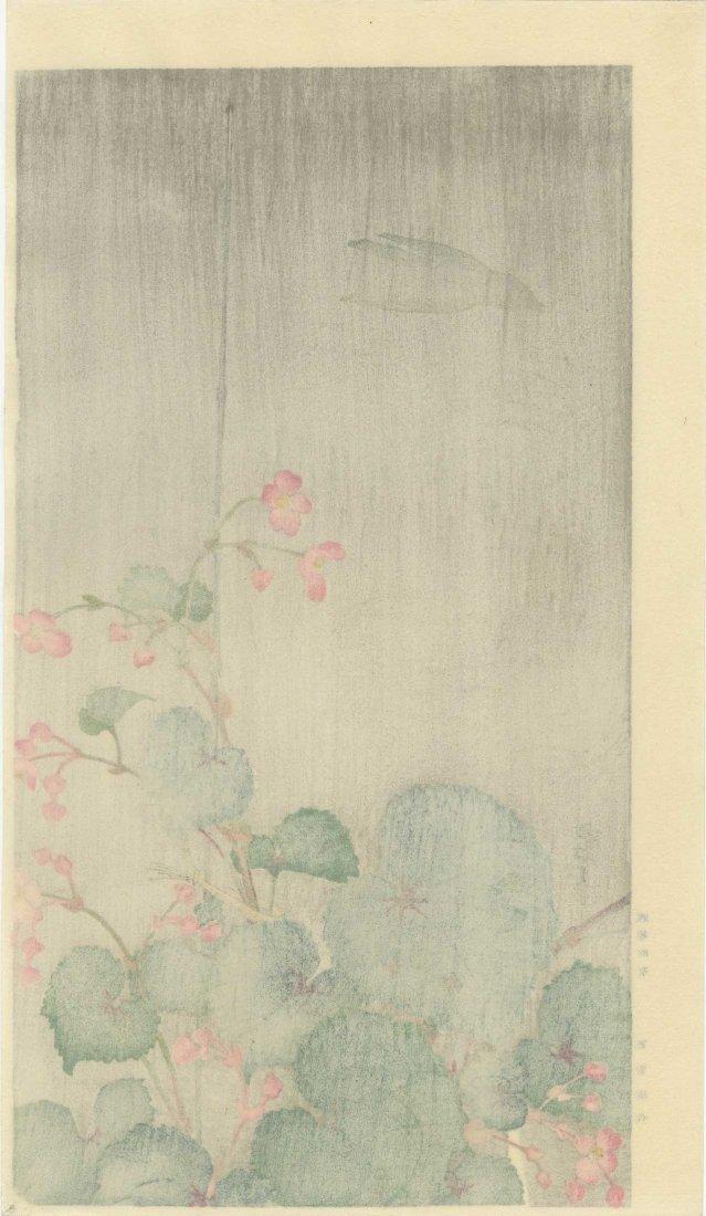 Ohara Koson: Silhouette of a Bird in the Rain, 1930 - 2