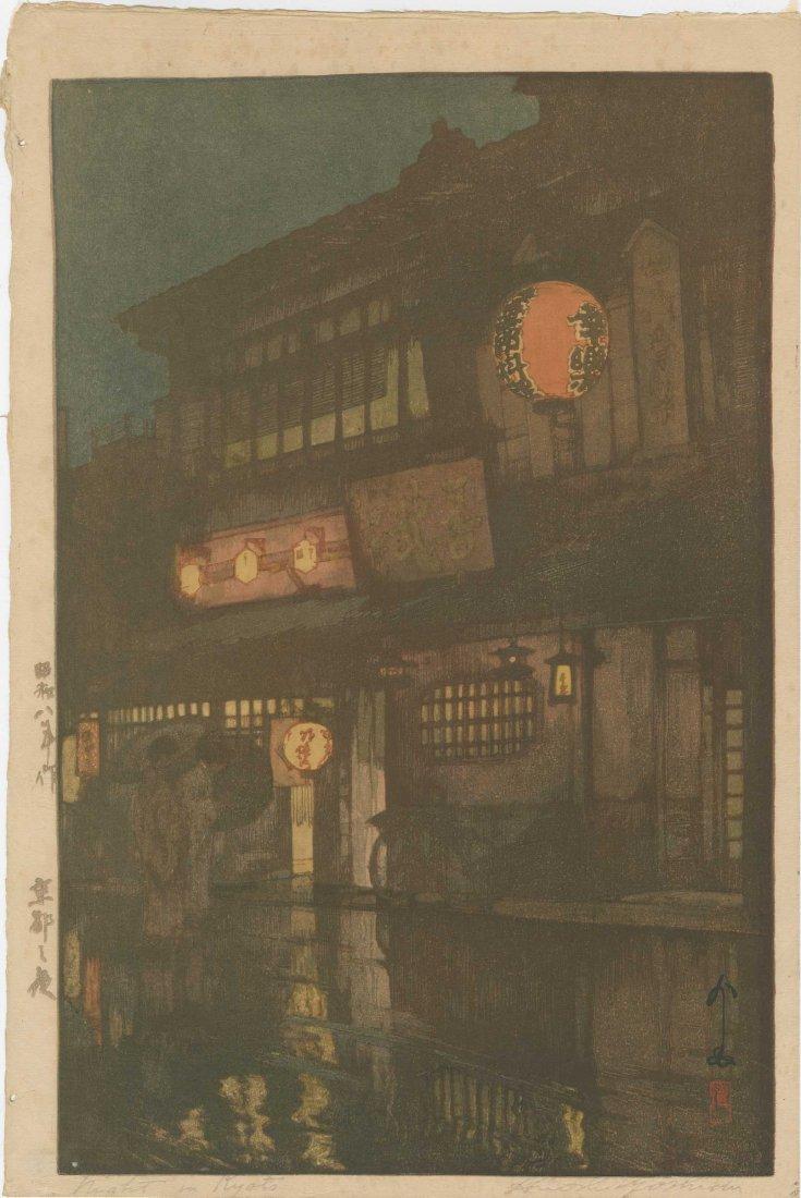 Hiroshi Yoshida: Kagurazaka Dori ( Night Rain), 1929