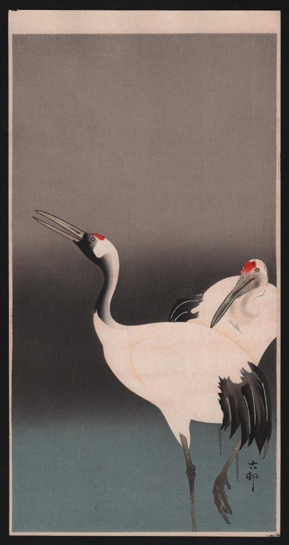 Ohara Koson: Cranes, 1910's