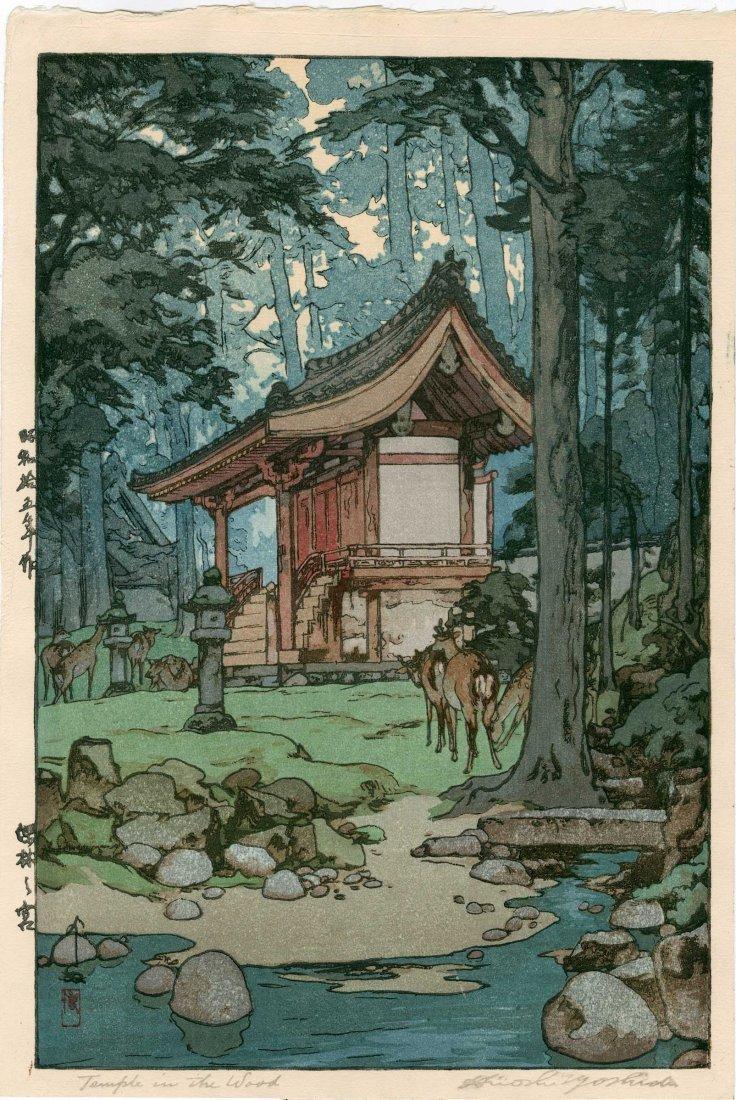 Hiroshi Yoshida: Temple in the Wood, 1940
