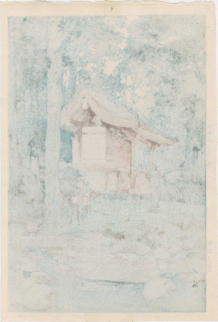 Hiroshi Yoshida: Temple in the Wood, 1940 - 2