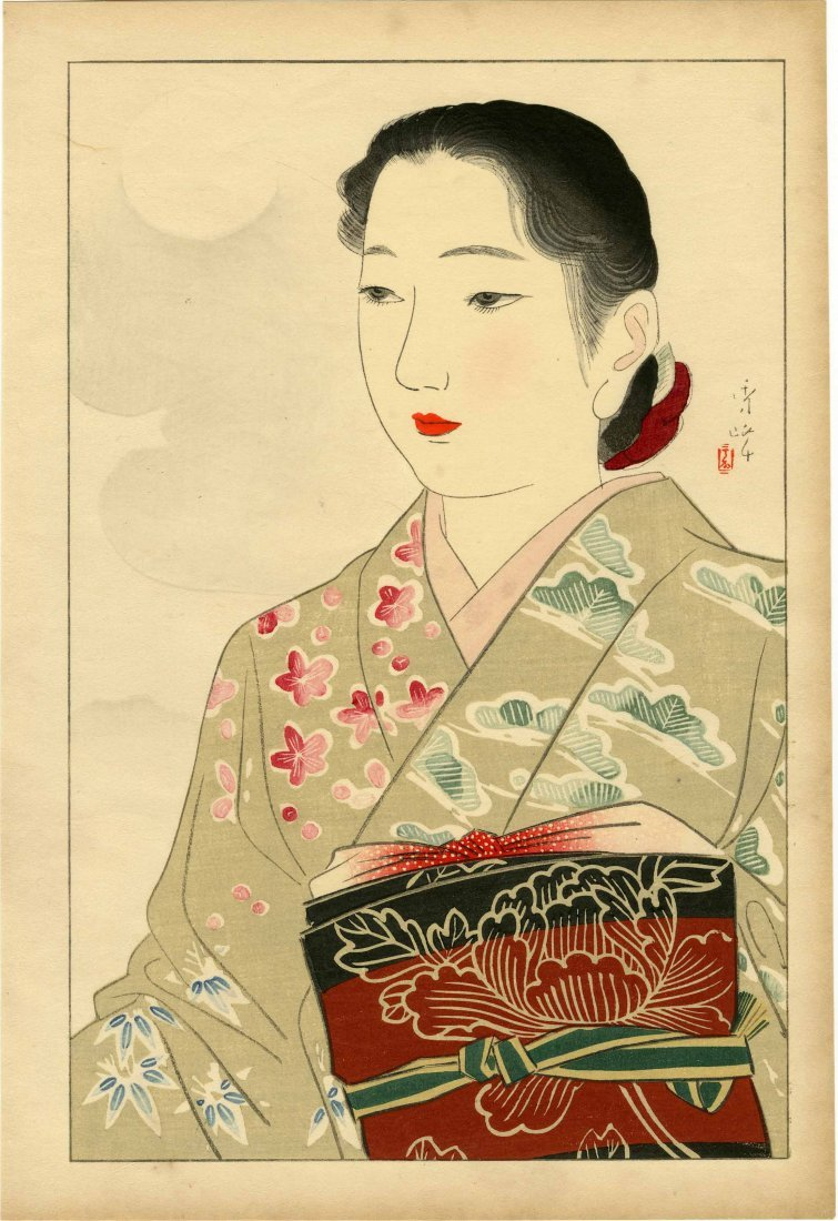Yamakawa Shuho: Kimono Model, 1930s