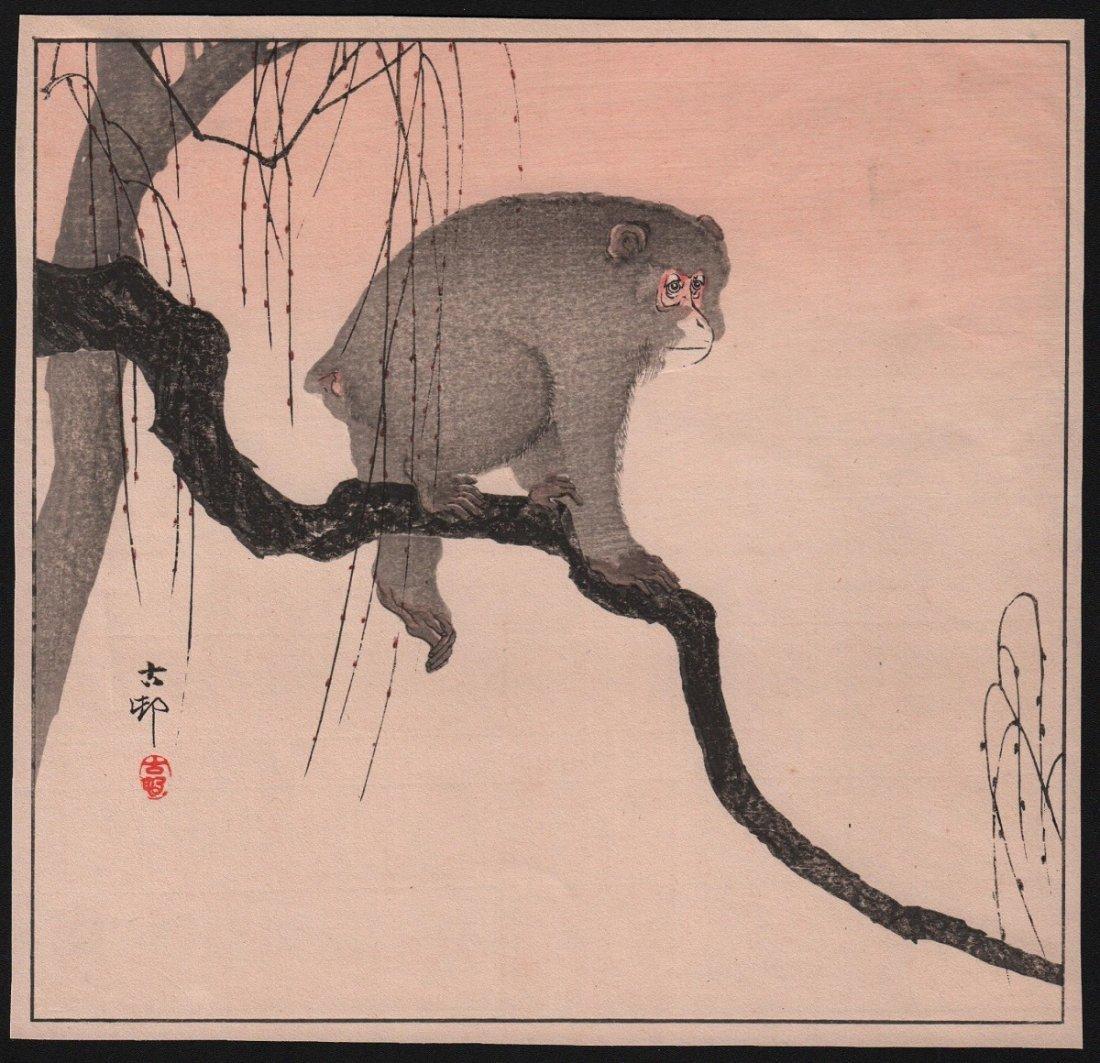 Ohara Koson: Monkey on Branch, 1910's