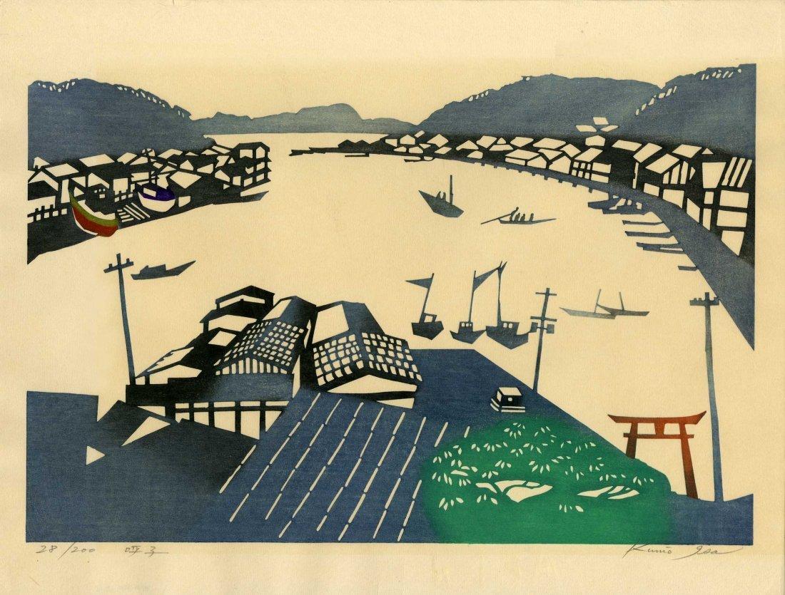 Kunio Isa: Fishing Village, 1967