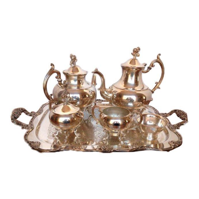 Vintage Reed & Barton Silver Plated Tea Set, 6 Piece
