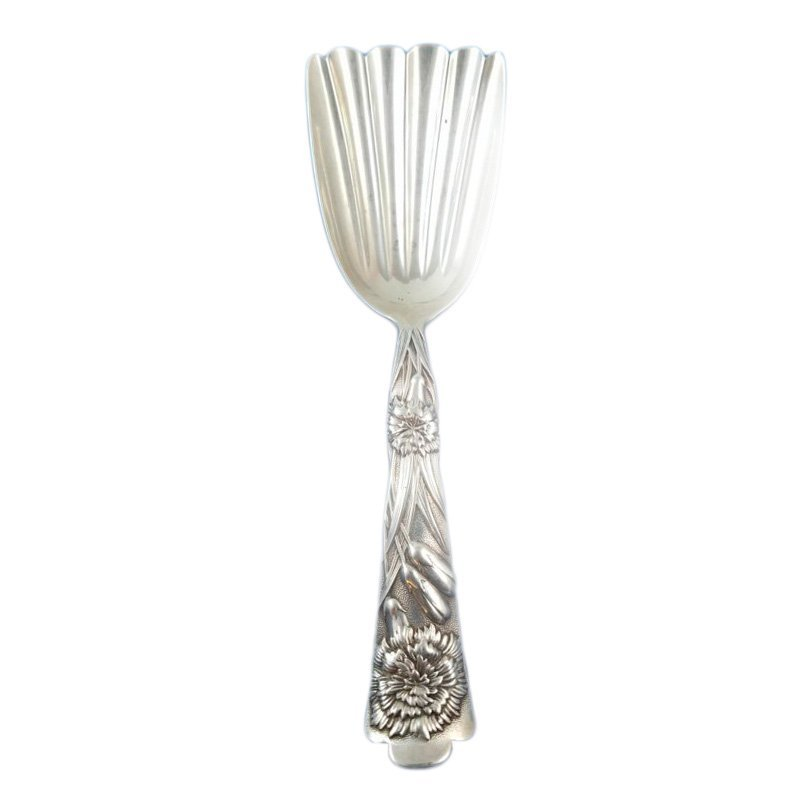 Flora by Shiebler Sterling Silver Fluted Almond Scoop