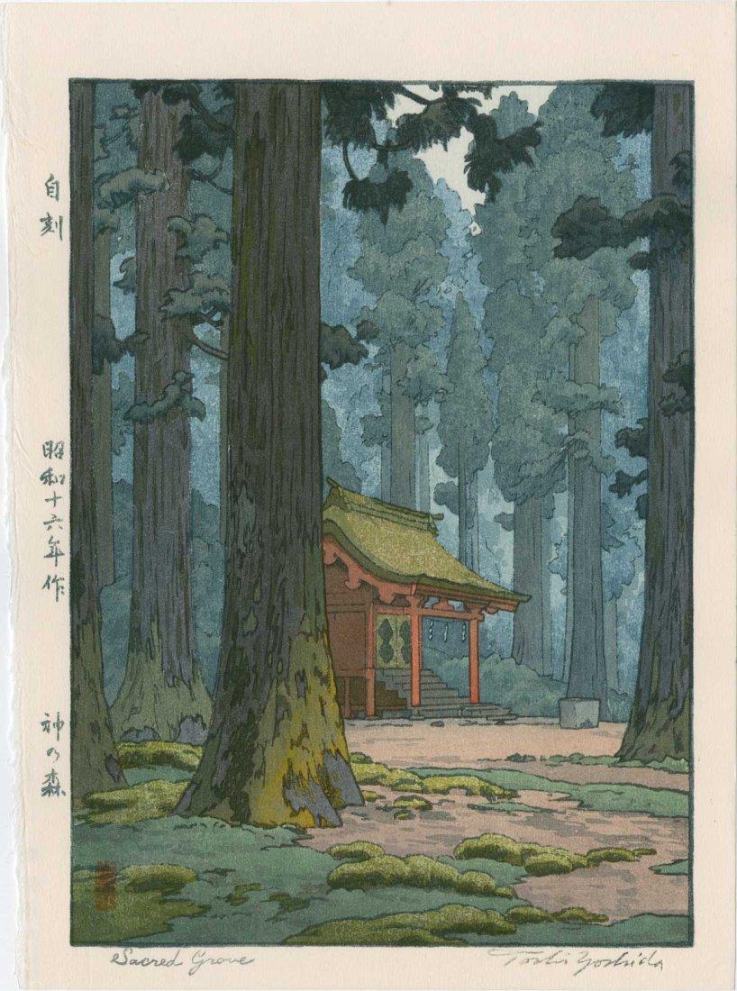 Toshi Yoshida: Sacred Grove, 1942