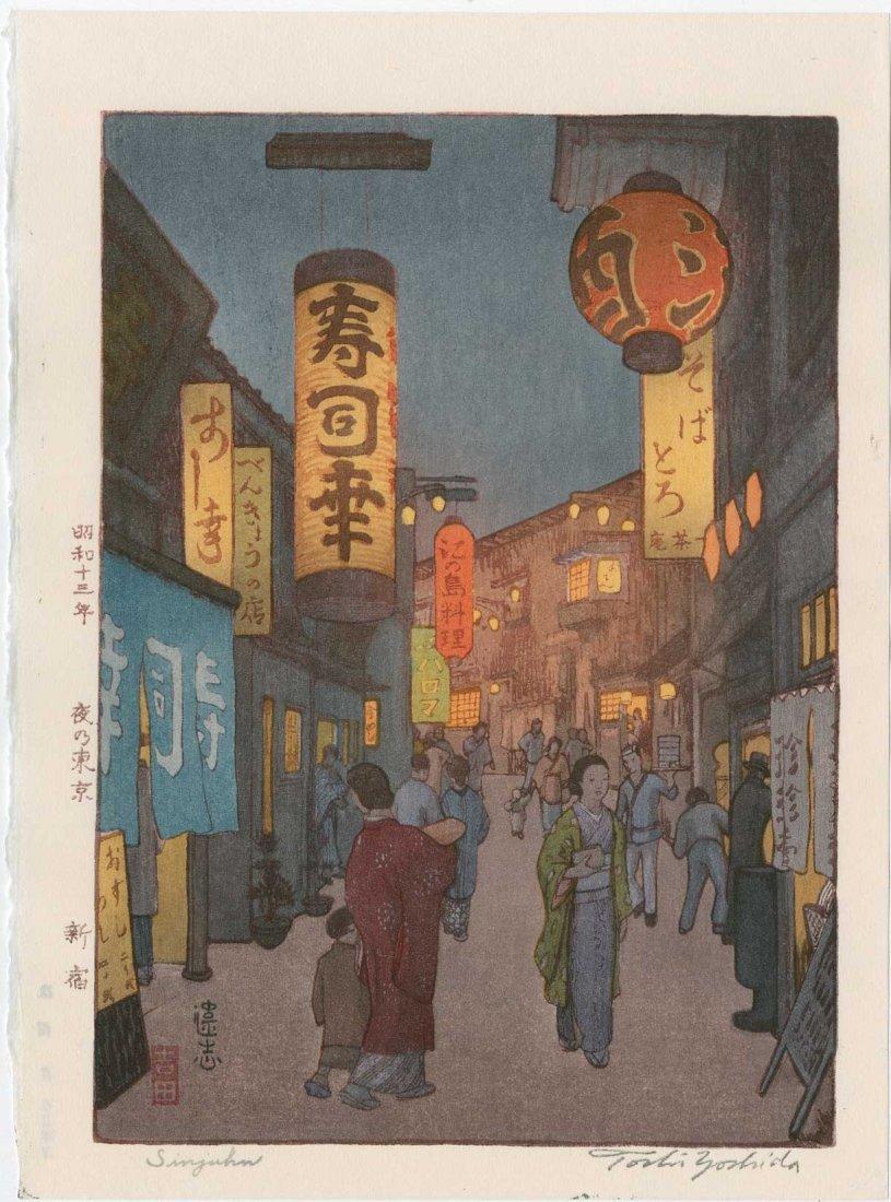 Toshi Yoshida: Sinjuku, 1936
