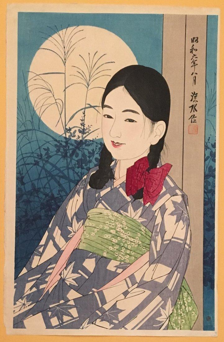 Shinsui Ito: Autumn Moon