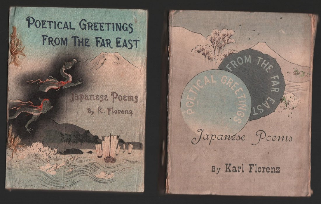 Woodblock Printed Book: Japanese Poems by K. Florenz