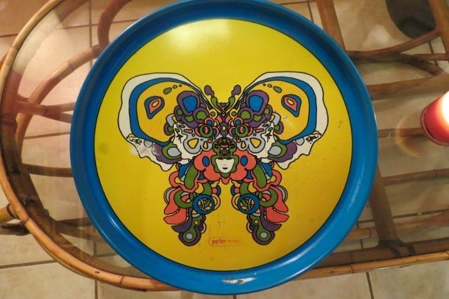 Vintage Peter Max Enameled Tray