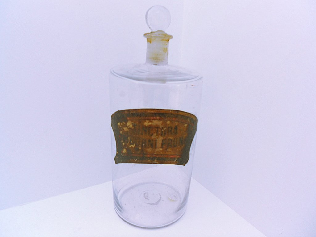 French Antique Blown Glass Pharmacy Jar