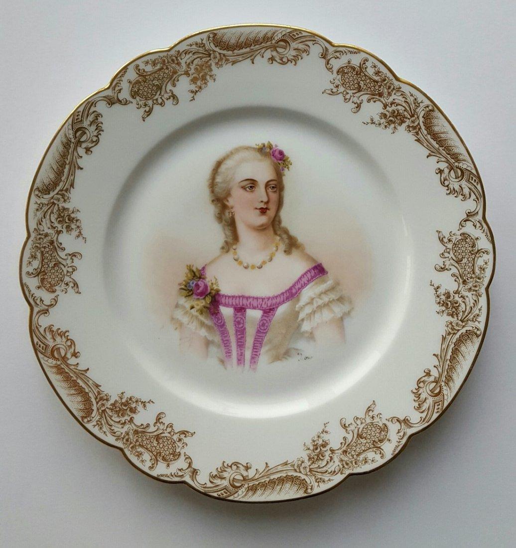 1846 Chateau De St Cloud Cabinet Plate Madame du Barry