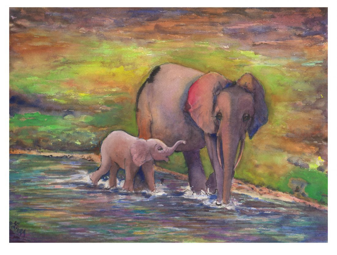 Liora Davis: Doris and her Calf (ELP), Small
