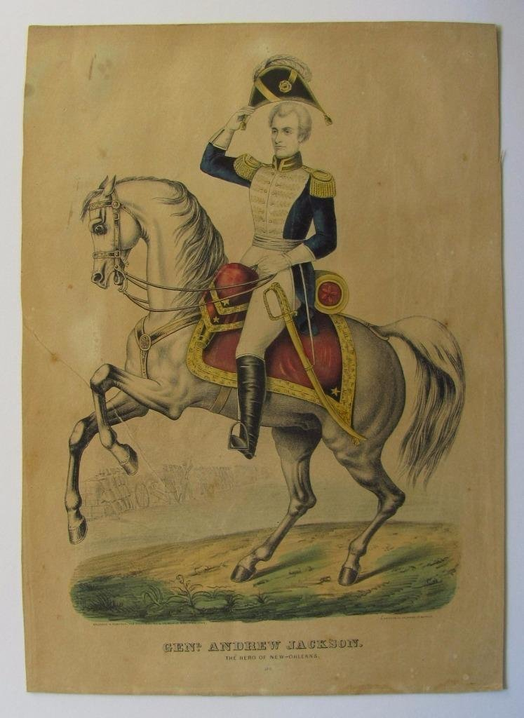 Andrew Jackson Lithograph, 1849