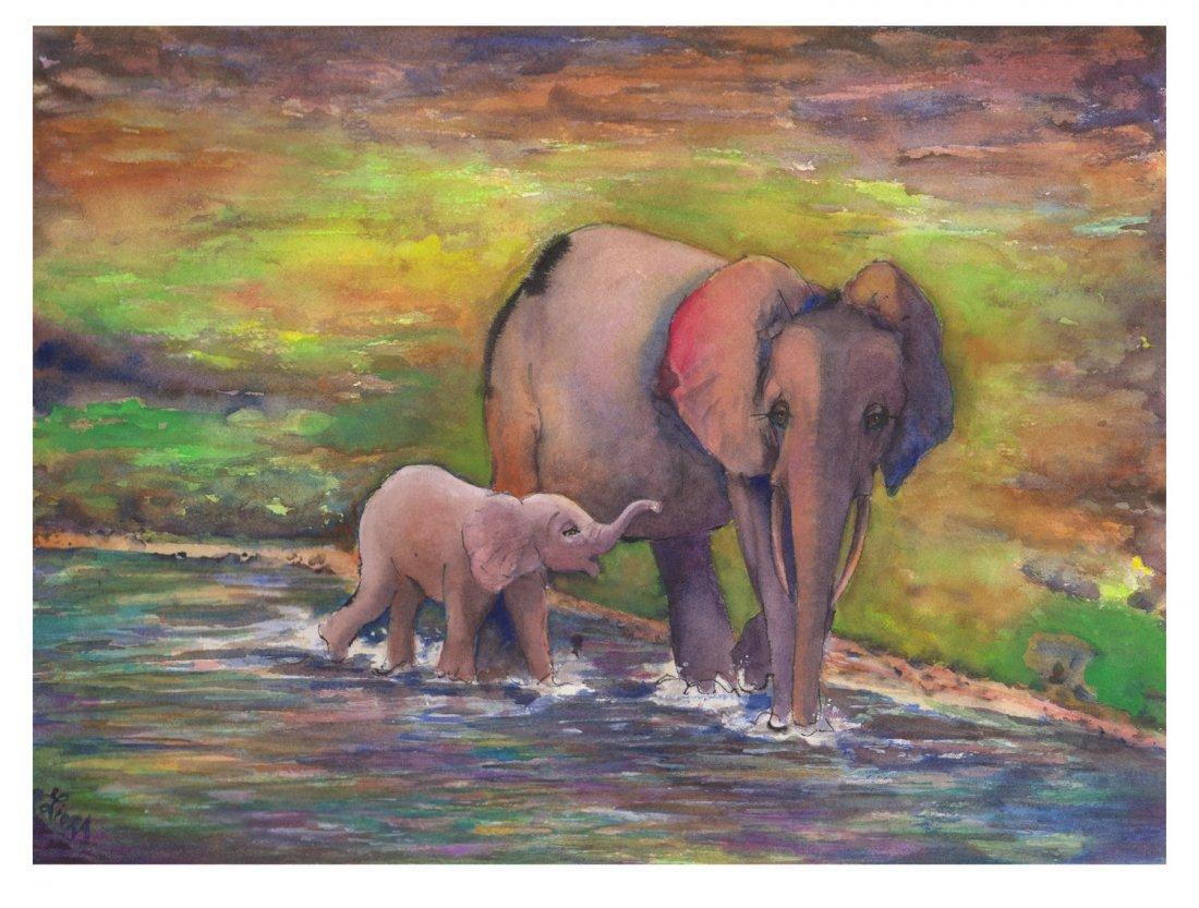 Liora Davis: Doris and her Calf (ELP), Large