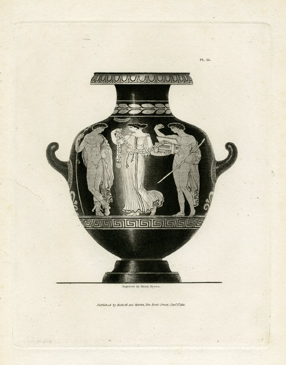 Henry Moses: Moses Vases Pl 15, 1820