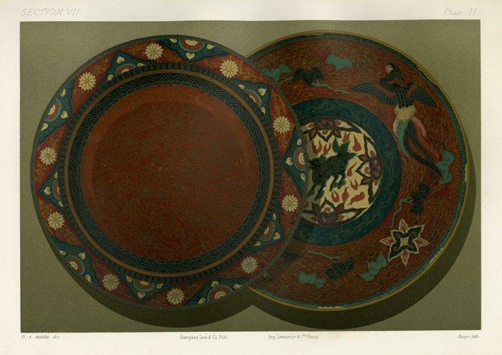 Spiegel: Section VII. Plate II. Cloisonne Enamel, 1883