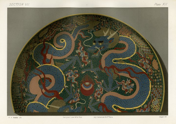 Spiegel: Section VII. Plate XII. Cloisonne Enamel, 1883