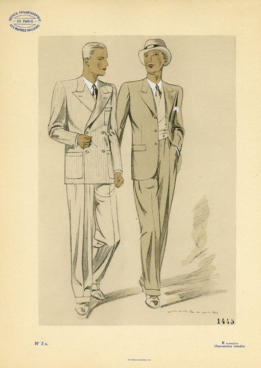 Marc-Luc: Men's Fashion Plate No. 2 A, 1933