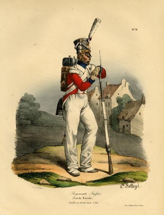 Hippolyte Bellange: Regiments Suisses, Garde Royale