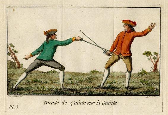 M. Danet: Parade de Quinte sur la Quinte, 1766