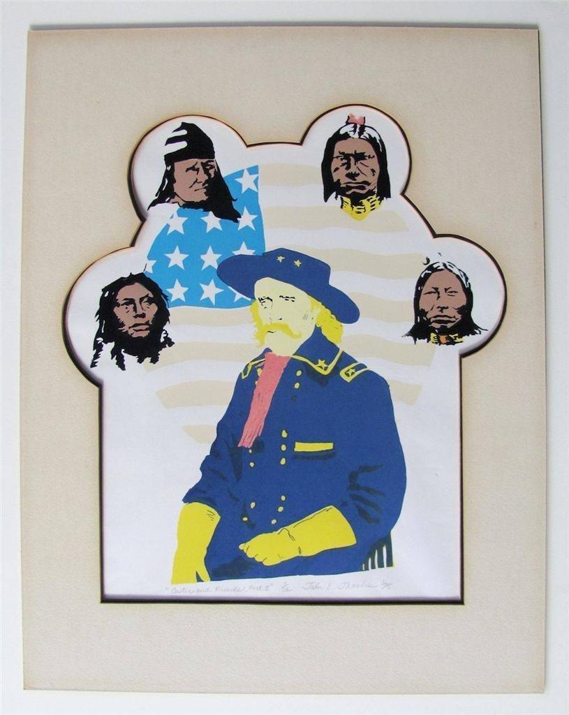 Custer Sitting Bull Screen Print, 1975