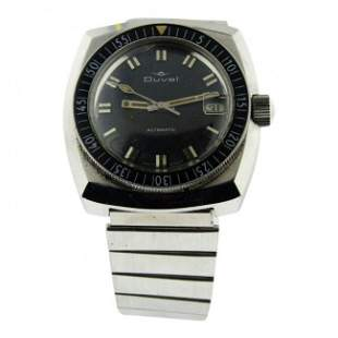 Duval Stainless Steel Diving Watch, 1970's
