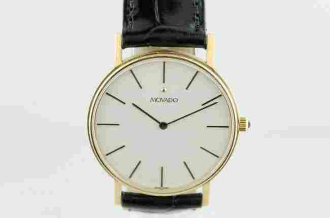 Movado Solid 14K Gold Watch