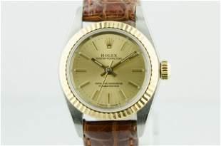 Rolex Oyster Sapphire Crystal Ladies Watch