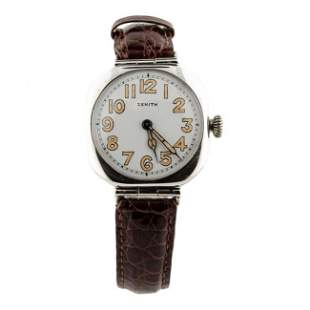 Zenith Sterling Silver Watch, 1918