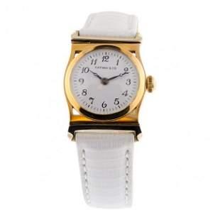 Tiffany & Co 18K Gold White Watch, 1930's