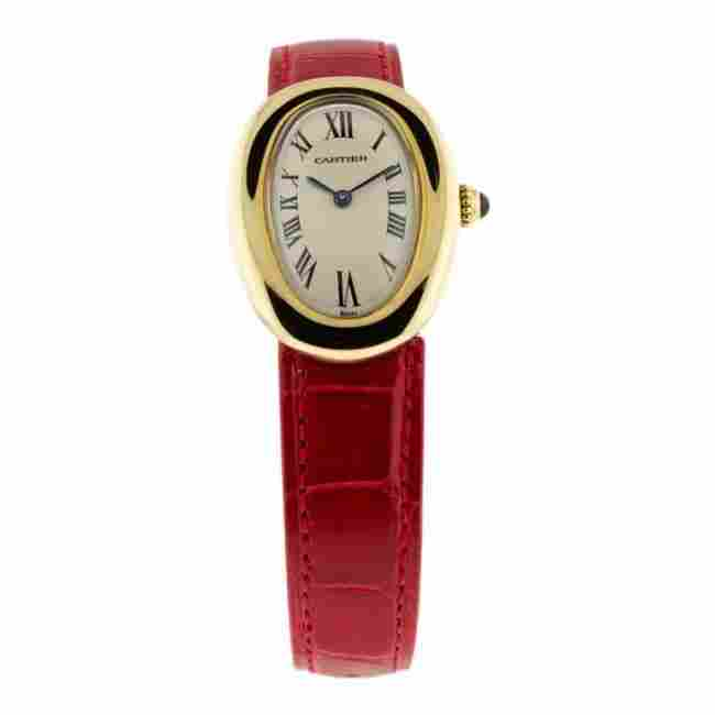 Cartier 18K Gold Curved Case Watch