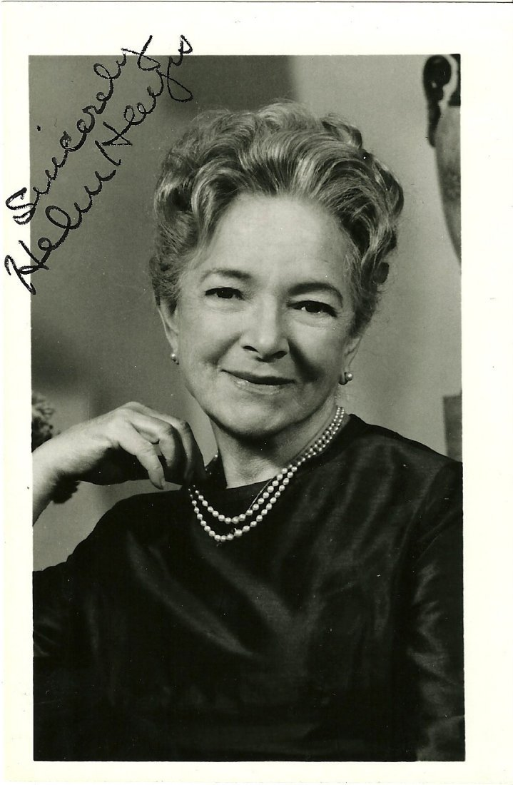 Helen Hayes Poster Card, Signed