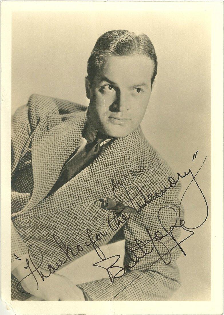 Bob Hope Poster Card, Signed