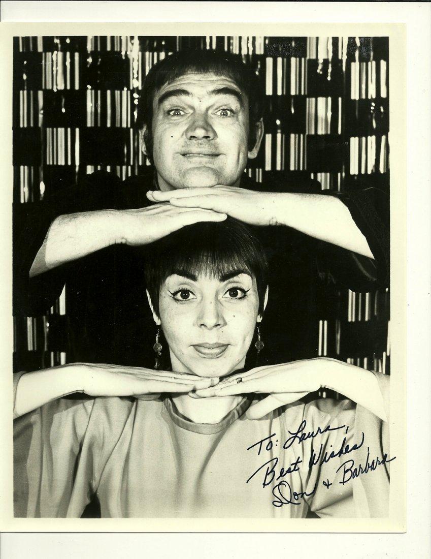 Don Adams & Barbara Feldon Poster, Signed