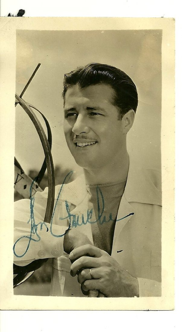 Don Ameche Poster Card, Signed