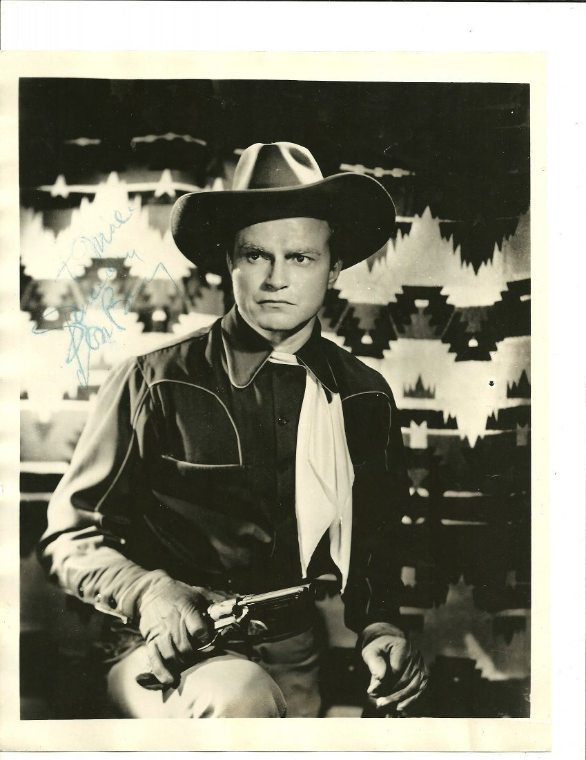 Don Barry Poster, Signed