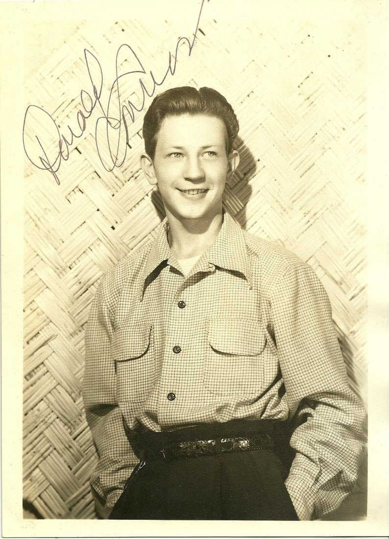 Donald O'Connor Poster Card, Signed
