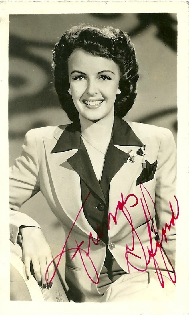Frances Gifford Poster Card, Signed