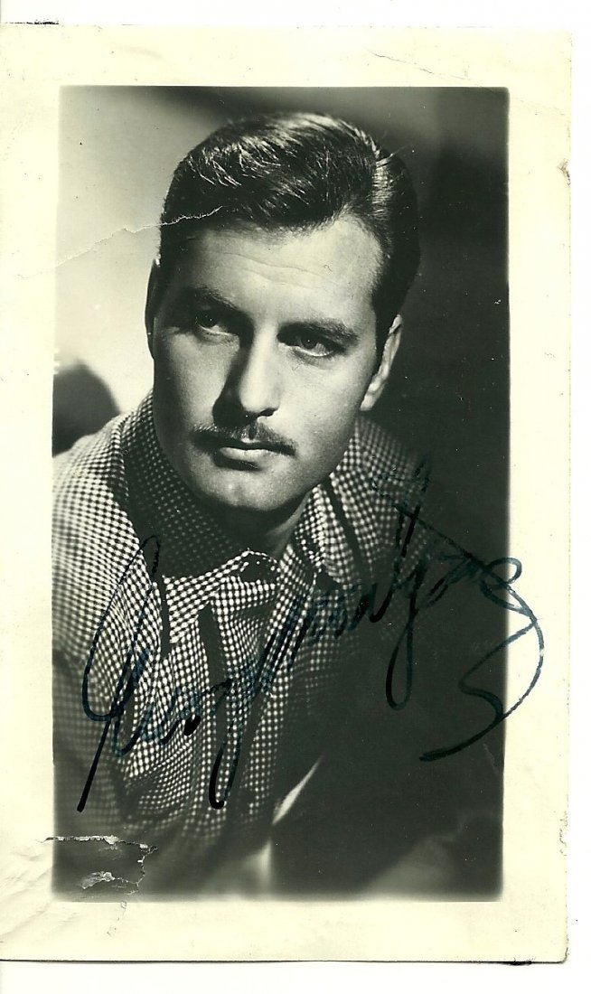 George Montgomery Poster Card, Signed