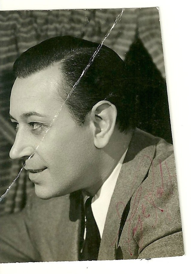 George Raft Poster Card, Signed