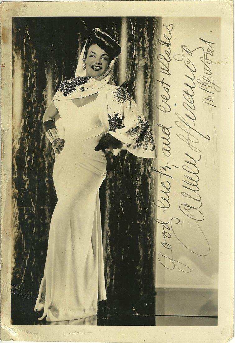 Carmen Miranda Poster Card, Signed